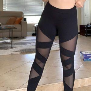 FOREVER 21 Sheer Athletic leggings